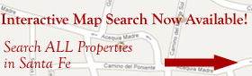Search all Properties in Santa Fe using an interactive Google map